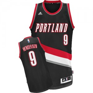 Portland Trail Blazers Gerald Henderson #9 Road Swingman Maillot d'équipe de NBA - Noir pour Homme