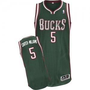 Maillot NBA Milwaukee Bucks #5 Michael Carter-Williams Vert Adidas Authentic Road - Homme