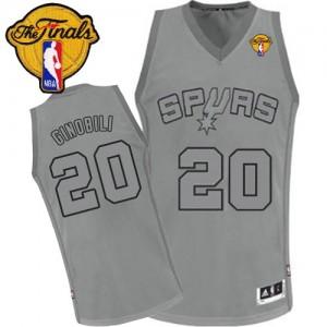 Maillot NBA Authentic Manu Ginobili #20 San Antonio Spurs Big Color Fashion Finals Patch Gris - Homme