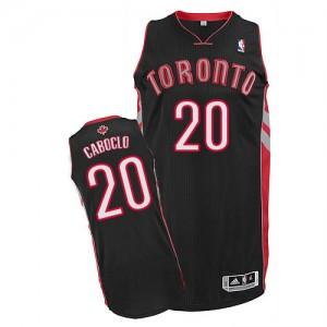 Maillot Authentic Toronto Raptors NBA Alternate Noir - #20 Bruno Caboclo - Homme