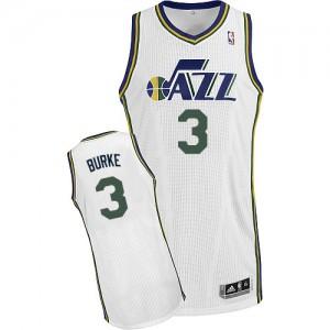 Maillot NBA Blanc Trey Burke #3 Utah Jazz Home Authentic Homme Adidas