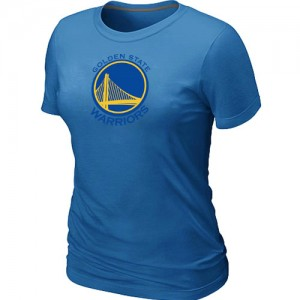 T-shirt principal de logo Golden State Warriors NBA Big & Tall Bleu clair - Femme