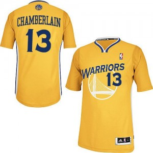 Golden State Warriors #13 Adidas Alternate Or Authentic Maillot d'équipe de NBA la vente - Wilt Chamberlain pour Homme