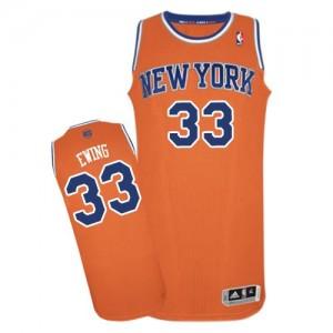 New York Knicks #33 Adidas Alternate Orange Authentic Maillot d'équipe de NBA vente en ligne - Patrick Ewing pour Homme