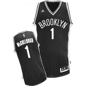 Brooklyn Nets #1 Adidas Road Noir Swingman Maillot d'équipe de NBA Vente pas cher - Chris McCullough pour Homme