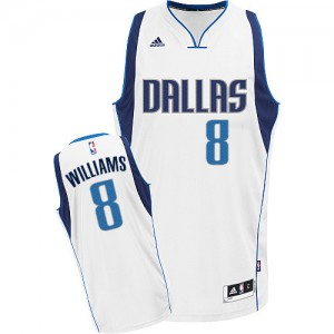 Dallas Mavericks Deron Williams #8 Home Swingman Maillot d'équipe de NBA - Blanc pour Homme