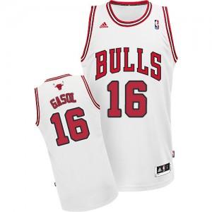 Maillot Swingman Chicago Bulls NBA Home Blanc - #16 Pau Gasol - Enfants