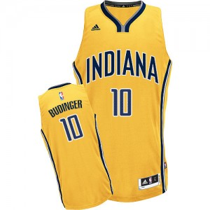 Maillot NBA Or Chase Budinger #10 Indiana Pacers Alternate Swingman Homme Adidas