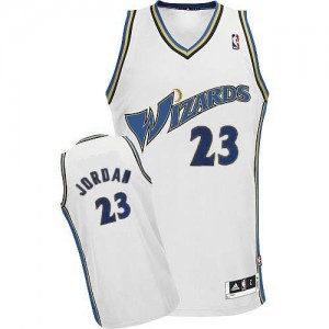 Maillot Adidas Blanc Authentic Washington Wizards - Michael Jordan #23 - Homme