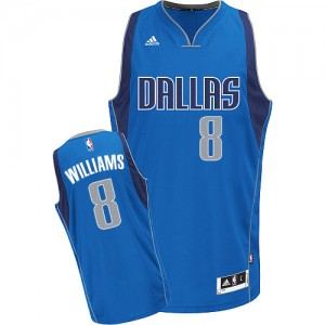 Dallas Mavericks Deron Williams #8 Road Swingman Maillot d'équipe de NBA - Bleu royal pour Homme