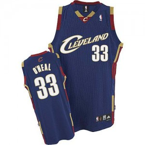Maillot NBA Authentic Shaquille O'Neal #33 Cleveland Cavaliers Throwback Bleu marin - Homme