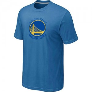 T-shirt principal de logo Golden State Warriors NBA Big & Tall Bleu clair - Homme