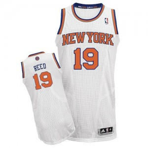 Maillot Adidas Blanc Home Authentic New York Knicks - Willis Reed #19 - Homme