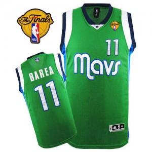 Maillot Authentic Dallas Mavericks NBA Finals Patch Vert - #11 Jose Barea - Homme