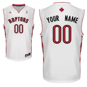 Maillot Toronto Raptors NBA Home Blanc - Personnalisé Swingman - Homme