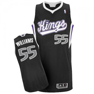 Maillot NBA Authentic Jason Williams #55 Sacramento Kings Alternate Noir - Homme