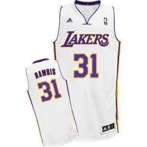 Maillot Adidas Blanc Alternate Swingman Los Angeles Lakers - Kurt Rambis #31 - Homme