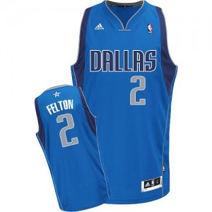 Maillot Adidas Bleu royal Road Swingman Dallas Mavericks - Raymond Felton #2 - Homme