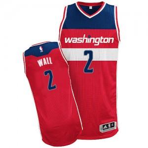 Washington Wizards #2 Adidas Road Rouge Authentic Maillot d'équipe de NBA préférentiel - John Wall pour Homme