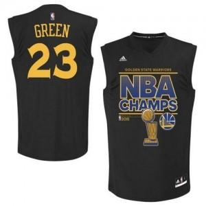 Golden State Warriors Draymond Green #23 2015 Finals Champions Authentic Maillot d'équipe de NBA - Noir pour Homme