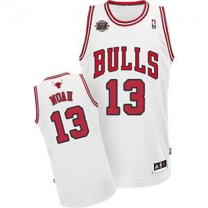 Maillot Adidas Blanc Home 20TH Anniversary Swingman Chicago Bulls - Joakim Noah #13 - Homme