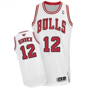 Maillot Adidas Blanc Home Authentic Chicago Bulls - Kirk Hinrich #12 - Homme