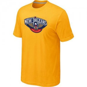 T-Shirts NBA New Orleans Pelicans Big & Tall Jaune - Homme
