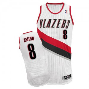 Maillot Authentic Portland Trail Blazers NBA Home Blanc - #8 Al-Farouq Aminu - Homme