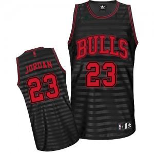 Chicago Bulls Michael Jordan #23 Groove Authentic Maillot d'équipe de NBA - Gris noir pour Homme
