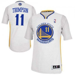 Maillot NBA Authentic Klay Thompson #11 Golden State Warriors Alternate Blanc - Femme