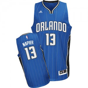 Maillot NBA Orlando Magic #13 Shabazz Napier Bleu royal Adidas Swingman Road - Homme