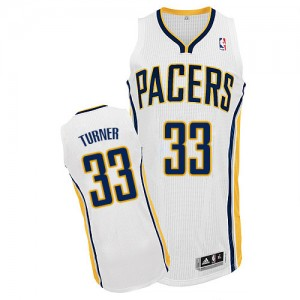 Maillot NBA Authentic Myles Turner #33 Indiana Pacers Home Blanc - Homme
