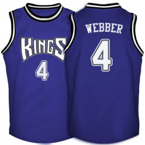 Sacramento Kings Chris Webber #4 Throwback Authentic Maillot d'équipe de NBA - Violet pour Homme