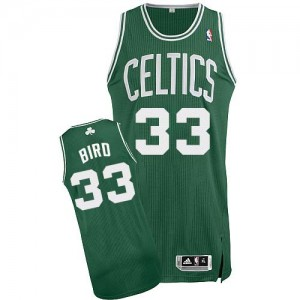 Maillot NBA Vert (No Blanc) Larry Bird #33 Boston Celtics Road Authentic Enfants Adidas