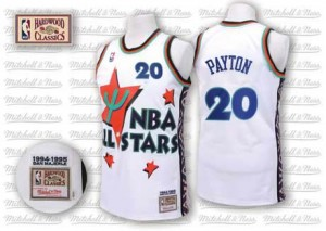 Oklahoma City Thunder Gary Payton #20 Throwback 1995 All Star Authentic Maillot d'équipe de NBA - Blanc pour Homme