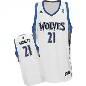 Maillot NBA Minnesota Timberwolves #21 Kevin Garnett Blanc Adidas Swingman Home - Homme