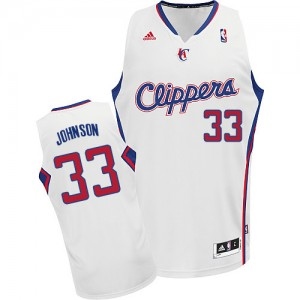 Maillot NBA Blanc Wesley Johnson #33 Los Angeles Clippers Home Swingman Homme Adidas