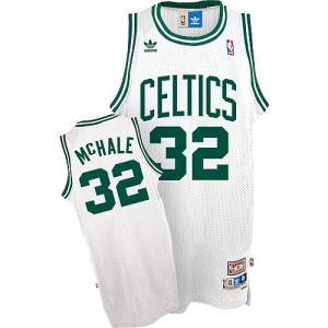Maillot NBA Boston Celtics #32 Kevin Mchale Blanc Mitchell and Ness Swingman Throwback - Homme