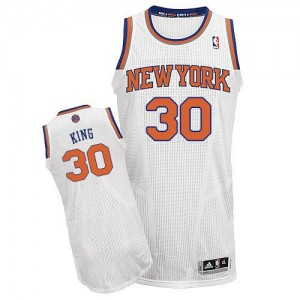 Maillot NBA Authentic Bernard King #30 New York Knicks Home Blanc - Homme