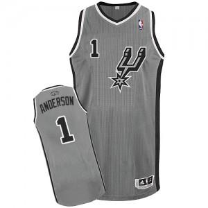 San Antonio Spurs Kyle Anderson #1 Alternate Authentic Maillot d'équipe de NBA - Gris argenté pour Homme