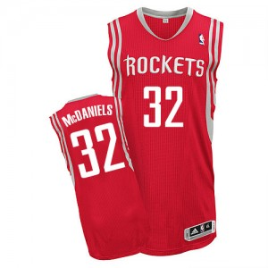 Maillot NBA Authentic KJ McDaniels #32 Houston Rockets Road Rouge - Homme