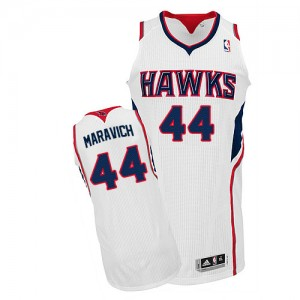Maillot Authentic Atlanta Hawks NBA Home Blanc - #44 Pete Maravich - Homme