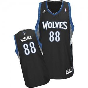 Minnesota Timberwolves #88 Adidas Alternate Noir Swingman Maillot d'équipe de NBA Vente pas cher - Nemanja Bjelica pour Homme