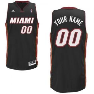 Maillot Adidas Noir Road Miami Heat - Swingman Personnalisé - Enfants