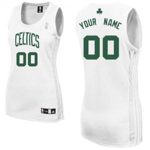 Boston Celtics Authentic Personnalisé Home Maillot d'équipe de NBA - Blanc pour Femme