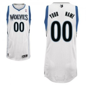 Maillot Adidas Blanc Home Minnesota Timberwolves - Authentic Personnalisé - Homme