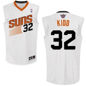 Maillot NBA Blanc Jason Kidd #32 Phoenix Suns Home Authentic Homme Adidas