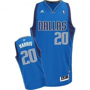 Maillot NBA Dallas Mavericks #20 Devin Harris Bleu royal Adidas Swingman Road - Homme