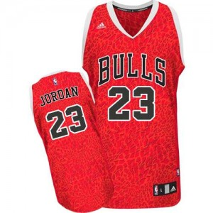 Chicago Bulls Michael Jordan #23 Crazy Light Authentic Maillot d'équipe de NBA - Rouge pour Homme