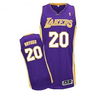 Los Angeles Lakers #20 Adidas Road Violet Authentic Maillot d'équipe de NBA Expédition rapide - Dwight Buycks pour Homme